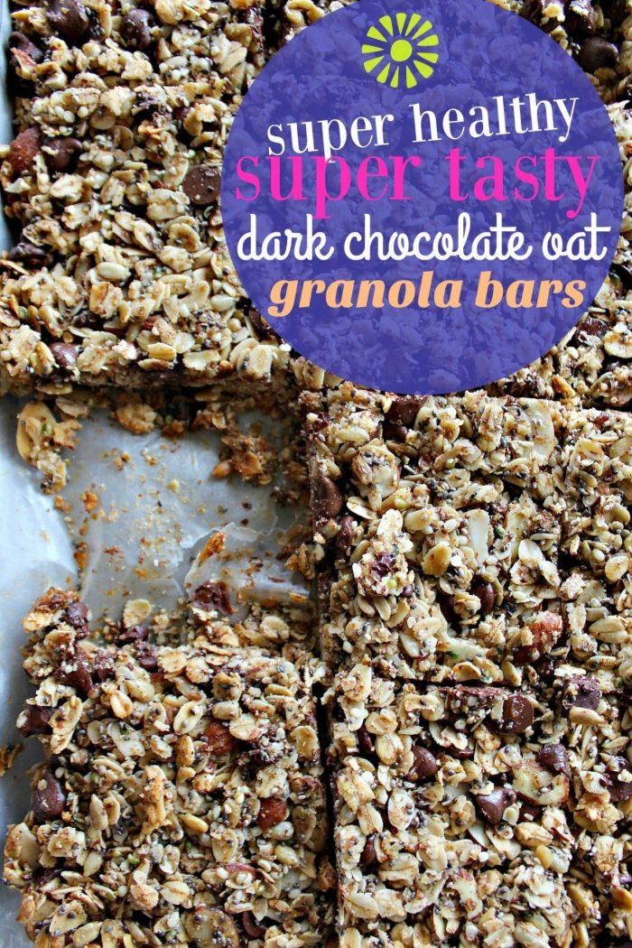 Super Healthy & Tasty Dark Chocolate Granola Bars