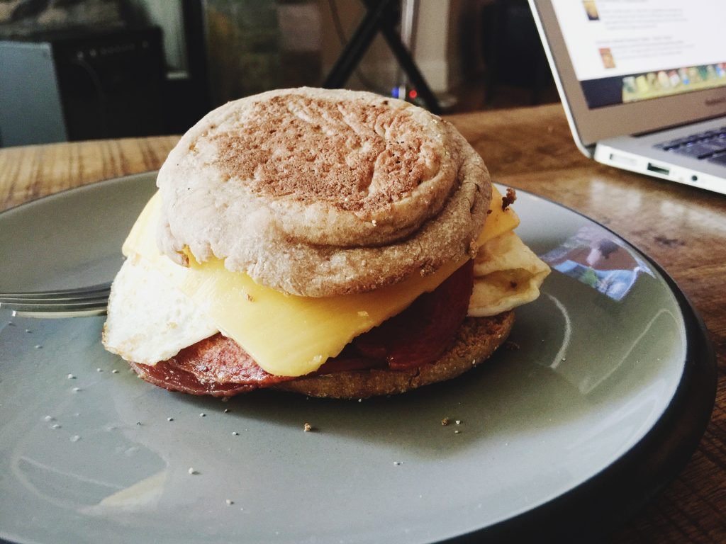 Taylored Ham, Egg & Cheese Breakfast sandwich