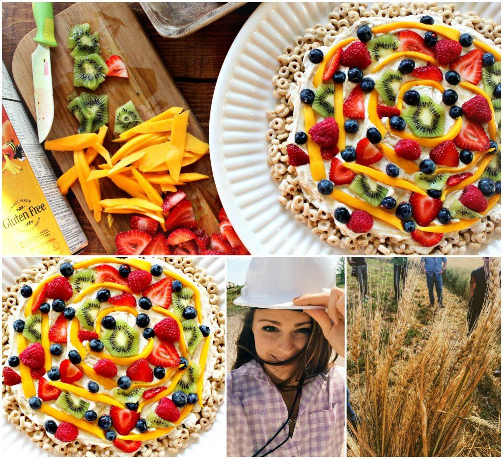 Honey Nut Cheerios Breakfast Fruit Pizza!