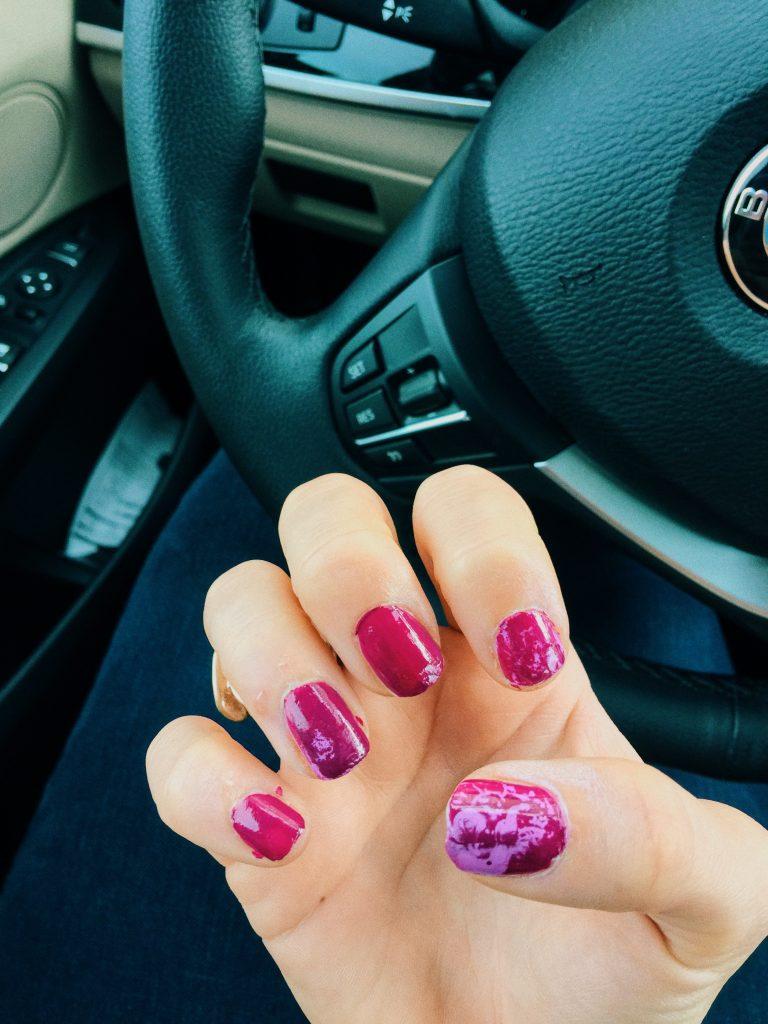when hairspray meets nail polish