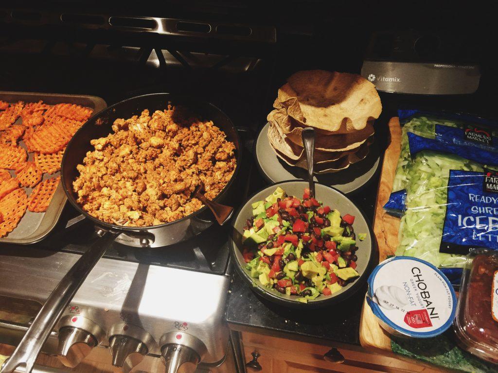 Ground Turkey Taco Salads!