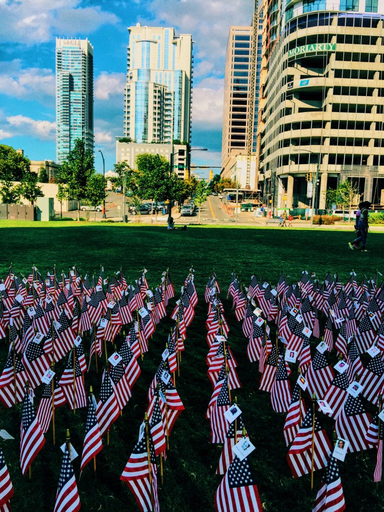 9-11 Flags Uptown Charlotte