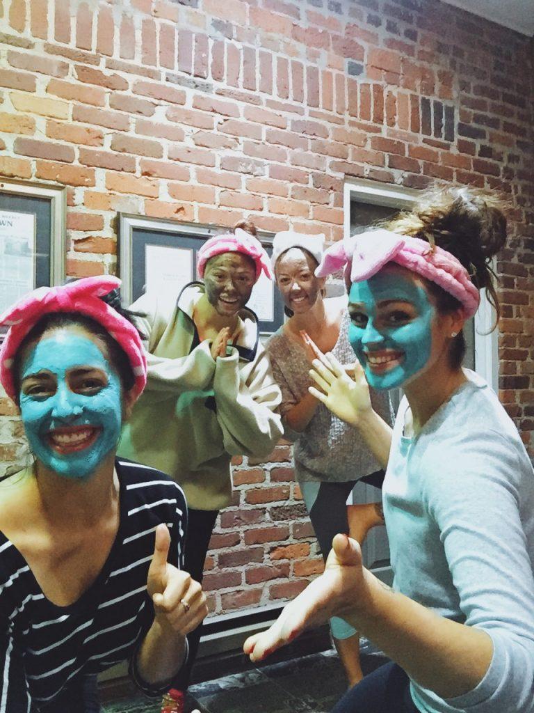girls night facials