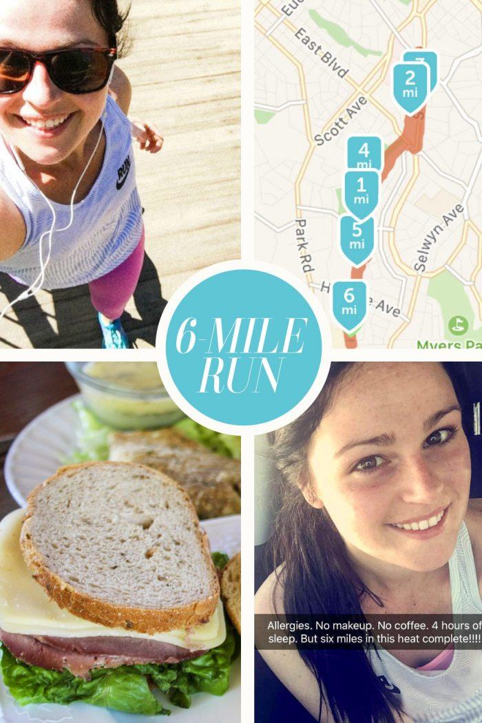 Half Marathon Training | Six Mile Run + Food (almost race day!)