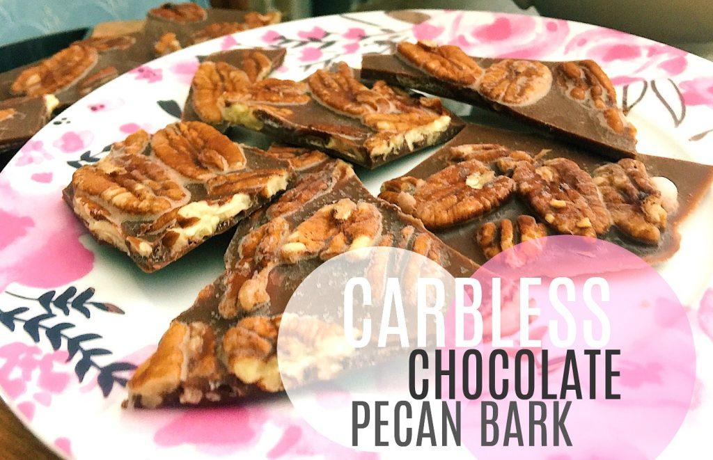 Carb-less Chocolate Peanut Butter Pecan Bark