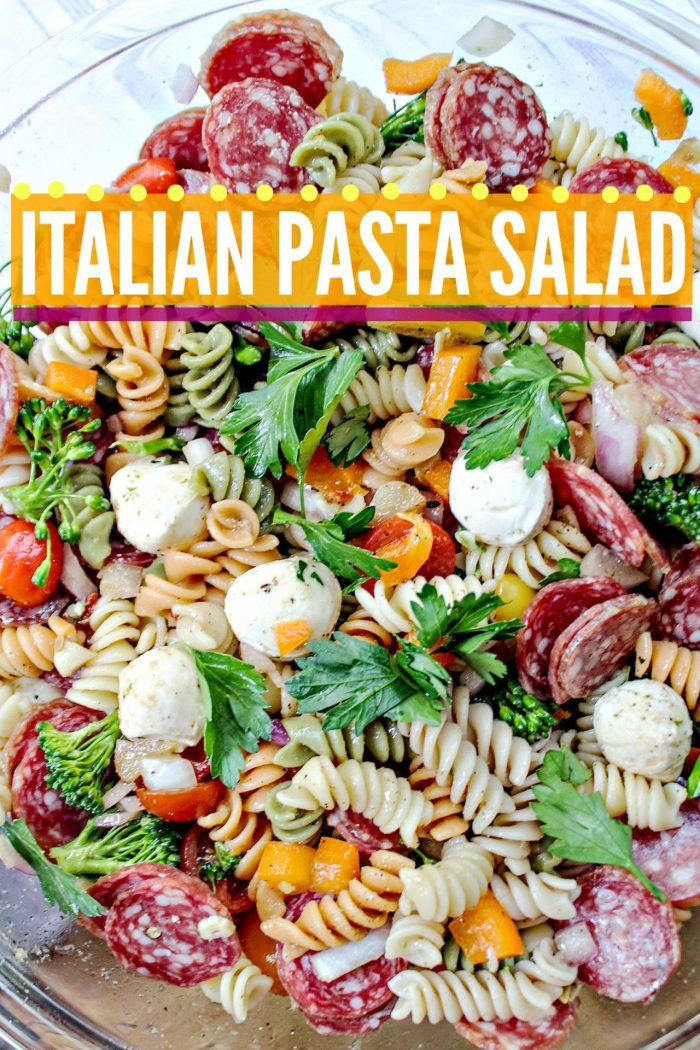 Italian Pasta Salad with Garlic Vinaigrette