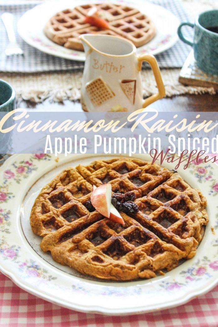 Cinnamon Raisin & Apple Pumpkin Waffles
