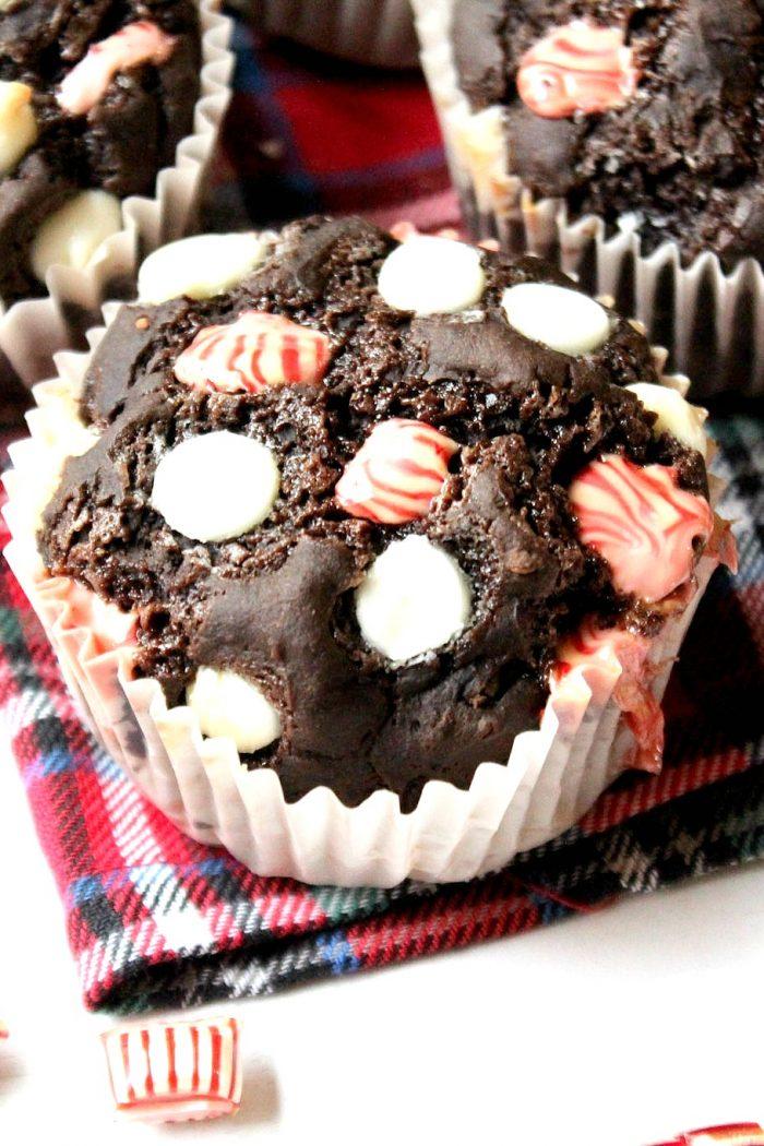 Lighter Peppermint Mocha Latte Muffins (gluten-free) 🎄