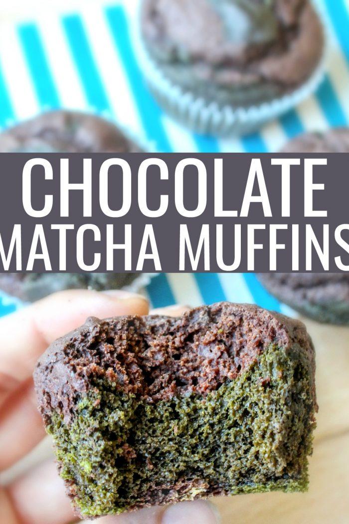 Chocolate Matcha Muffins (gluten free/dairy free)