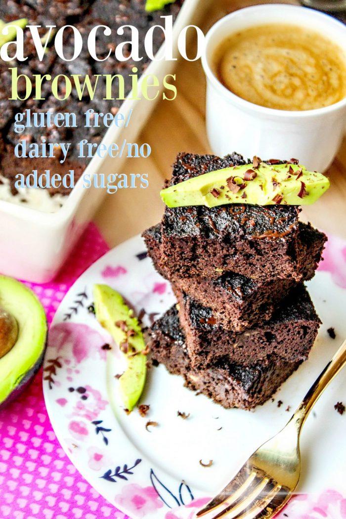 Fudgy Avocado Brownies (Gluten, Sugar & Dairy Free)