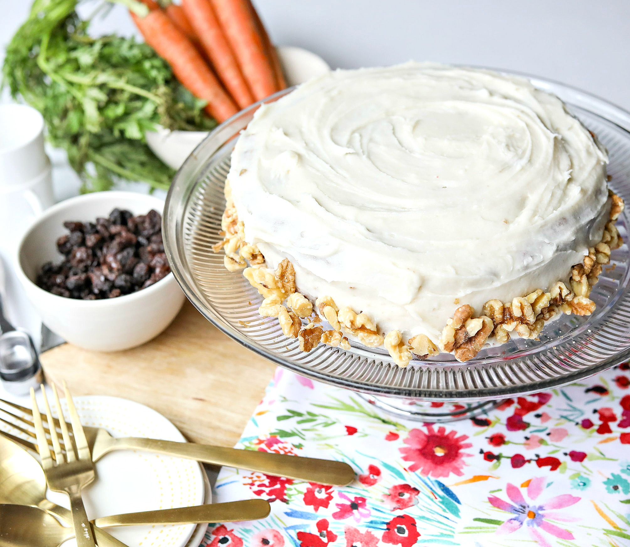 The Best Vegan Carrot Cake (Gluten Free & No Sugar)
