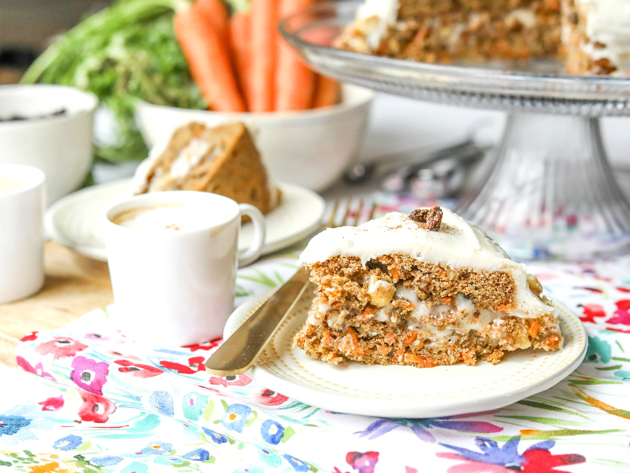 The Best Vegan Carrot Cake (Gluten Free & No Sugar)