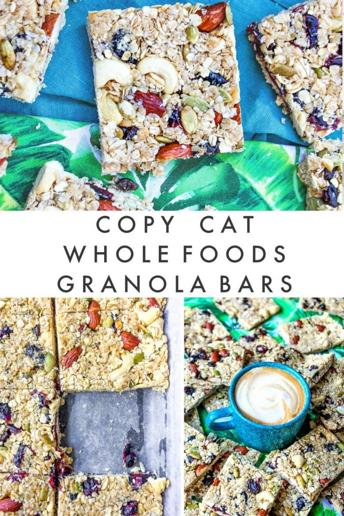 Copycat Homemade Whole Food's Granola Bar Recipe