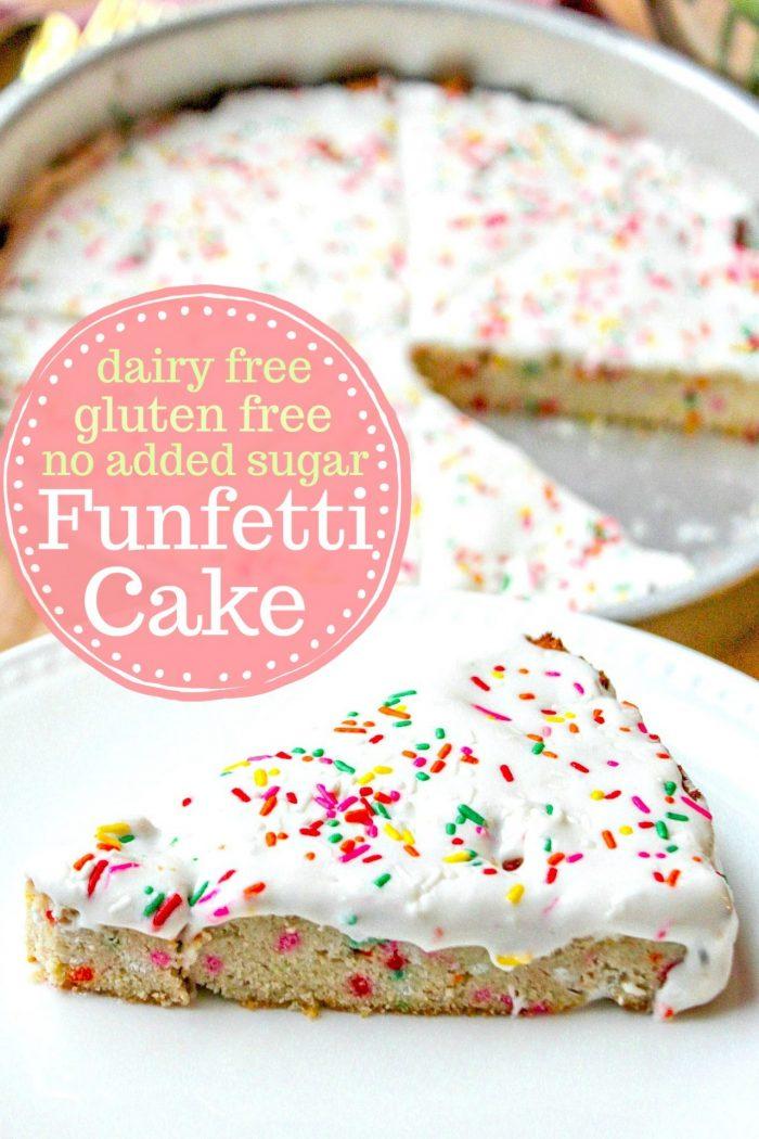Funfetti Cake (Dairy & Grain Free + No Added Sugars)