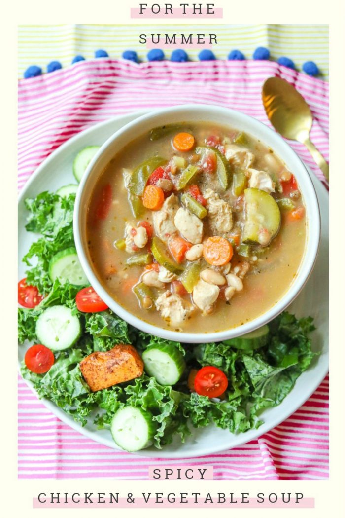 Spicy Chicken & Vegetable Soup with Beans & Lentils