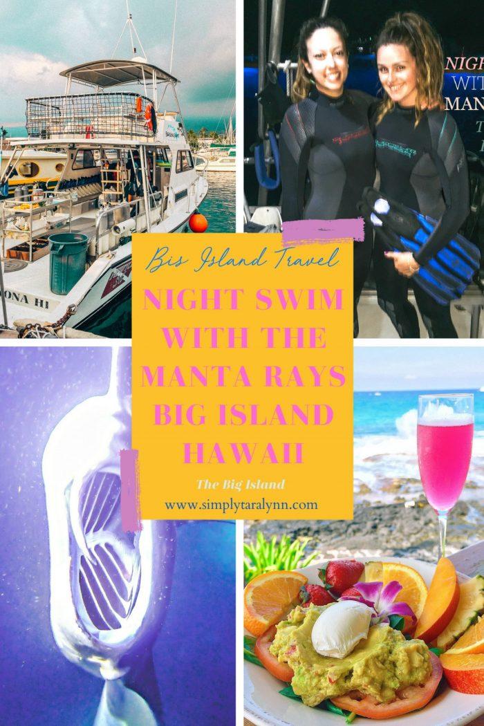Big Island Adventure: Night Swim With The Manta Rays 🦑