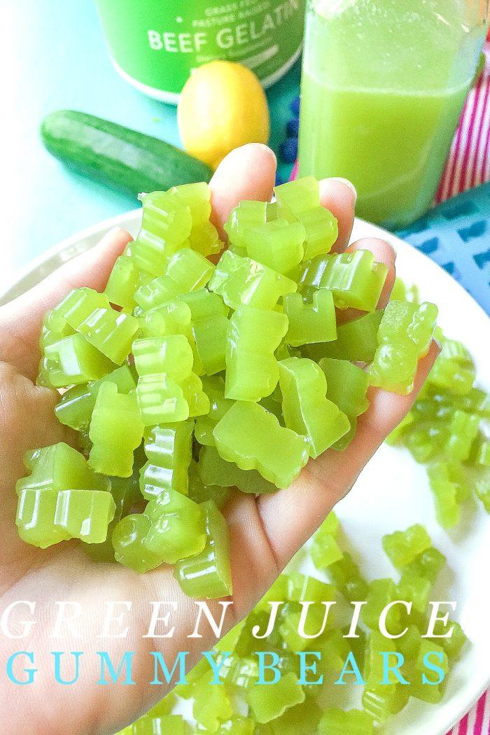 Homemade Healthy Green Juice Gummy Bears 🥒 🍋 🐻
