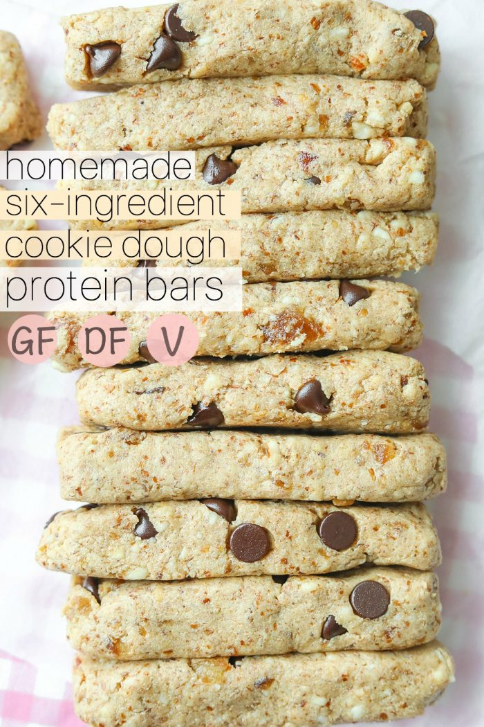 Homemade Cookie Dough Protein Bars / Grain & Dairy Free