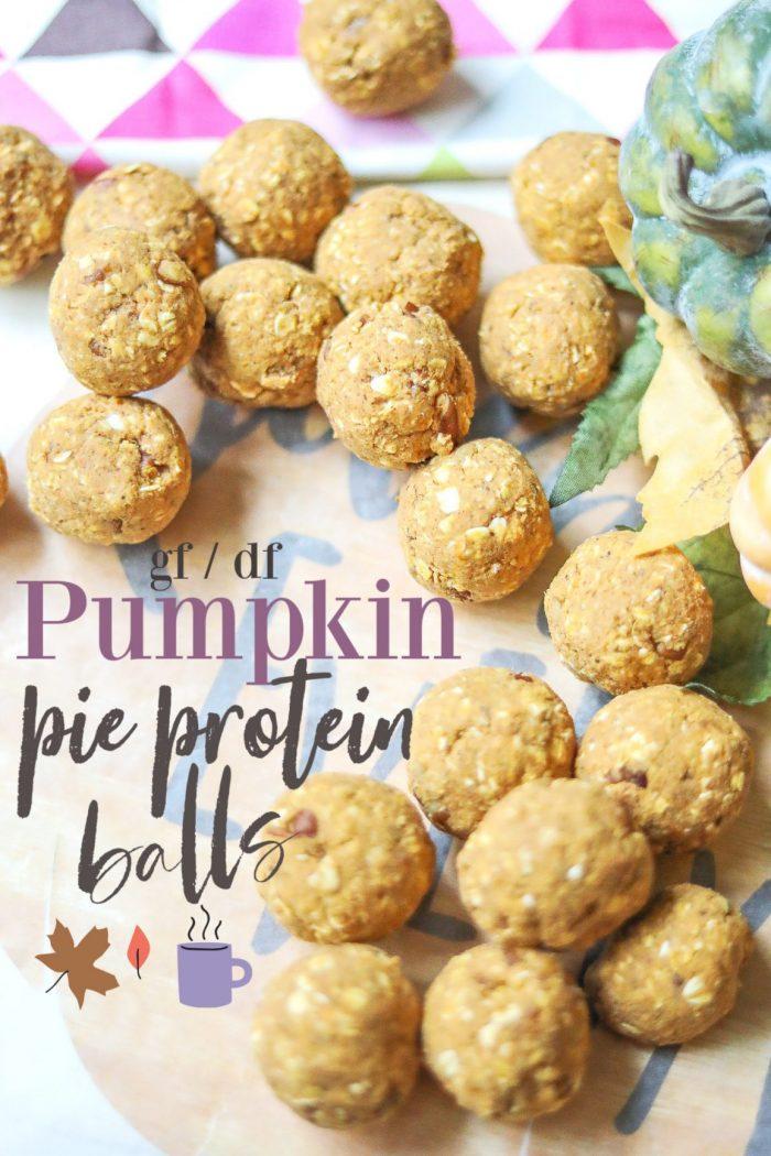 Pumpkin Pie Protein Balls | Gluten Free, Dairy Free, Vegan