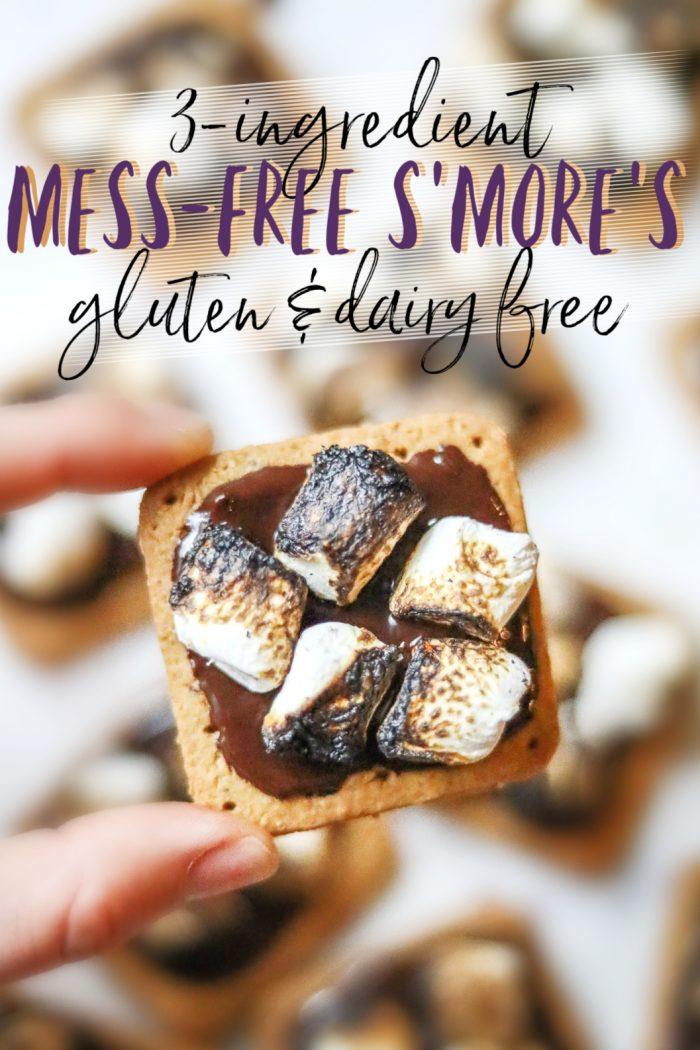 3-Ingredient Gluten & Dairy Free Mess-Free S'mores 🍫
