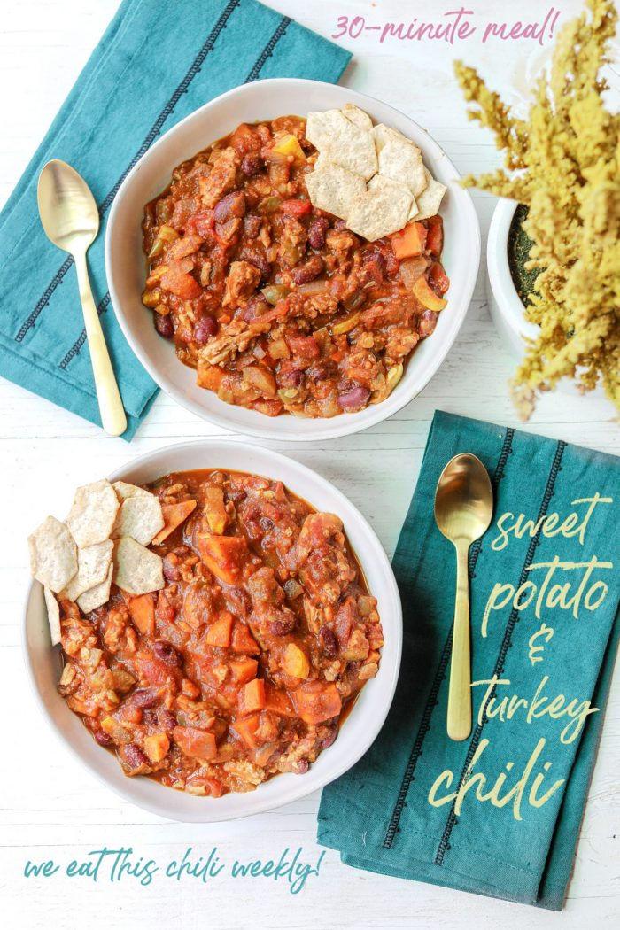 Sweet Potato & Turkey Chili | We Eat This Recipe Weekly!