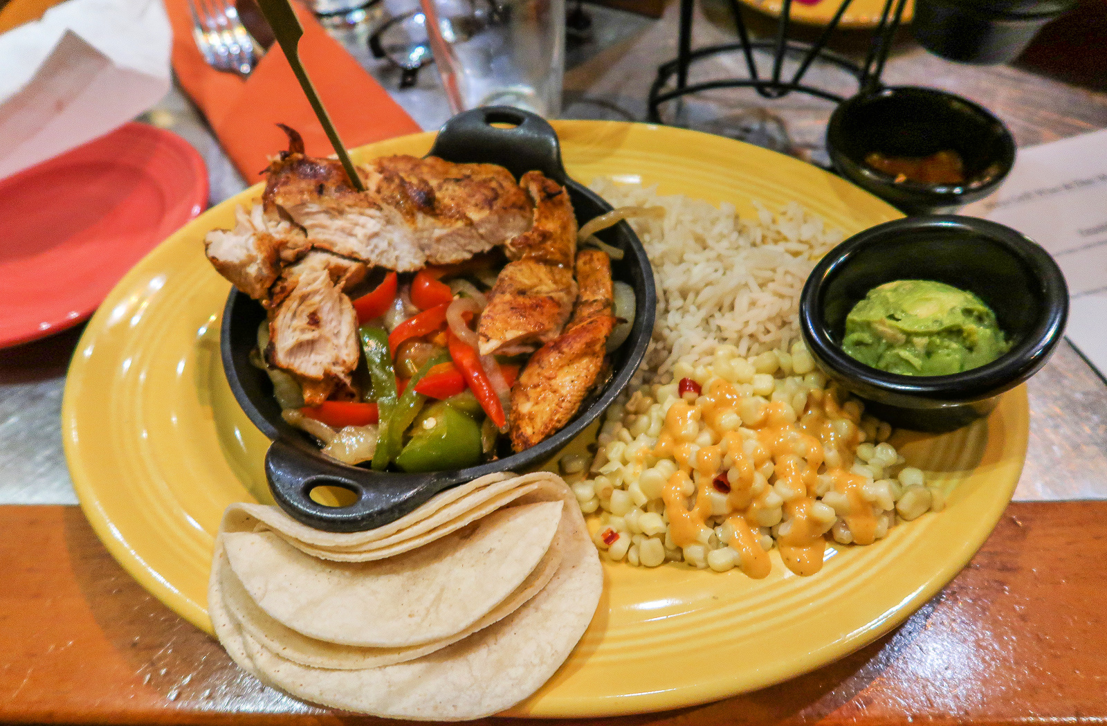Maya Grill Coronado Springs Resort Walt Disney World Sizzling Fajitas Gluten and Dairy Free
