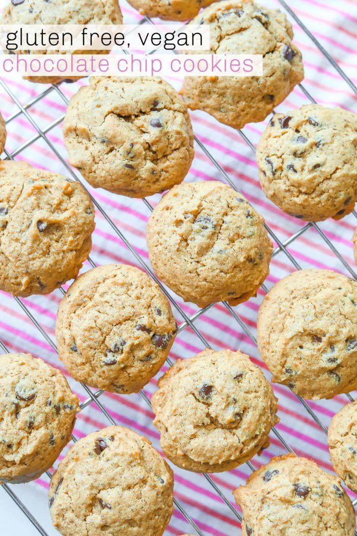 Chocolate Chip Cookies (Gluten-Free & Vegan) 🍪