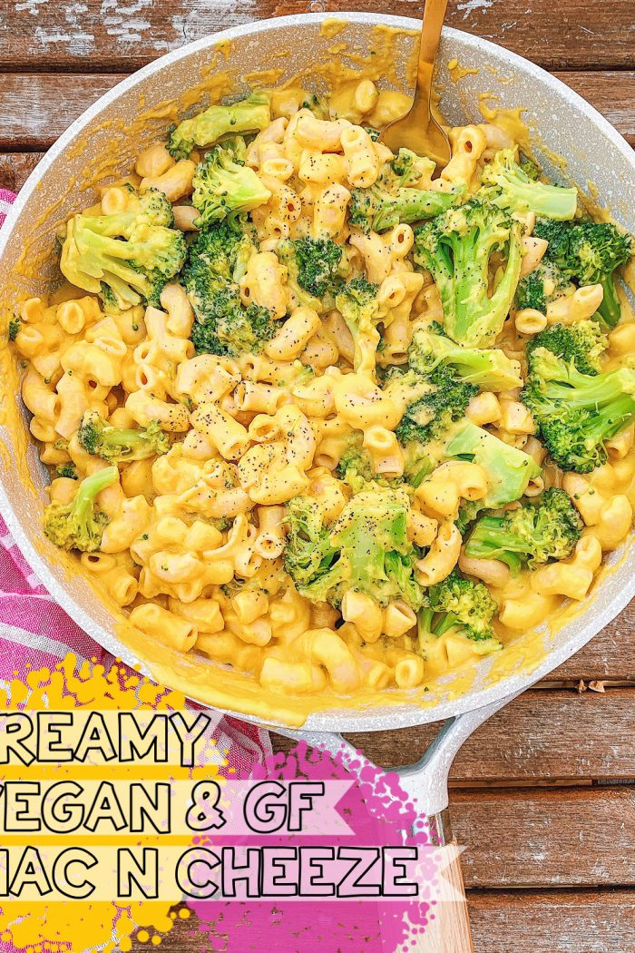The Creamiest GF Vegan Mac N Cheese w/Broccoli 🧀 🥦