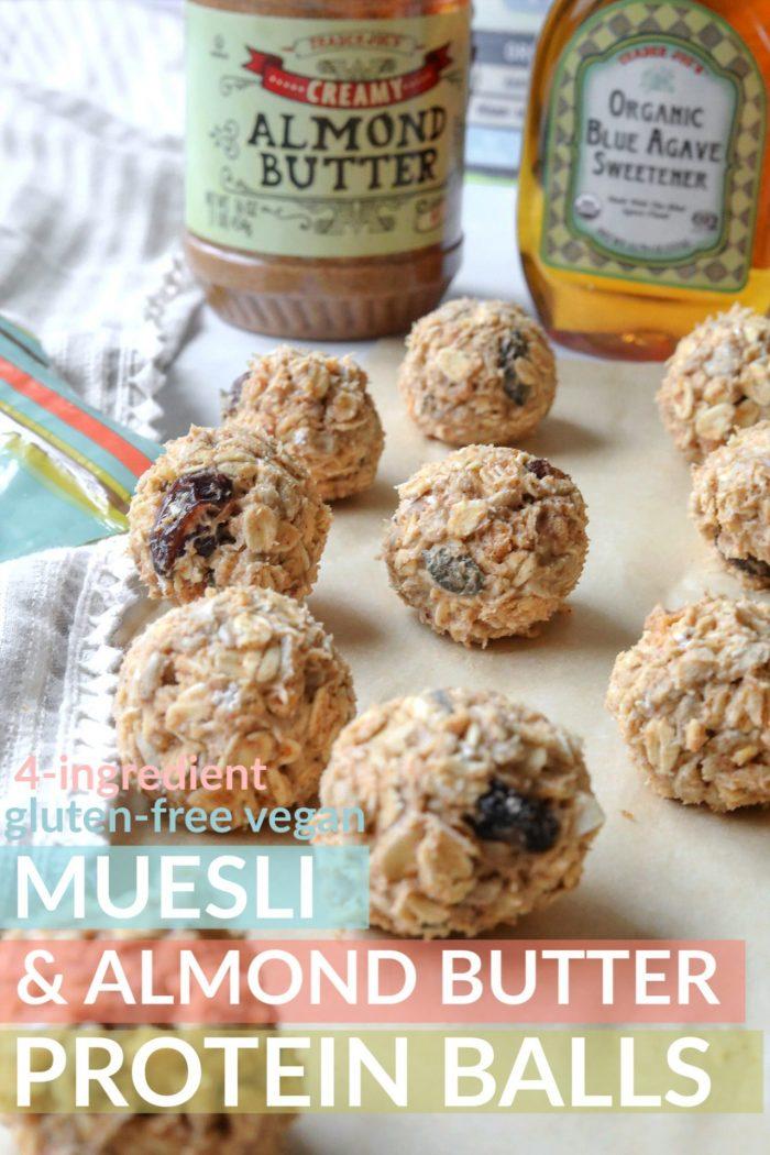 Muesli & Almond Butter Protein Balls (gluten-free/vegan)