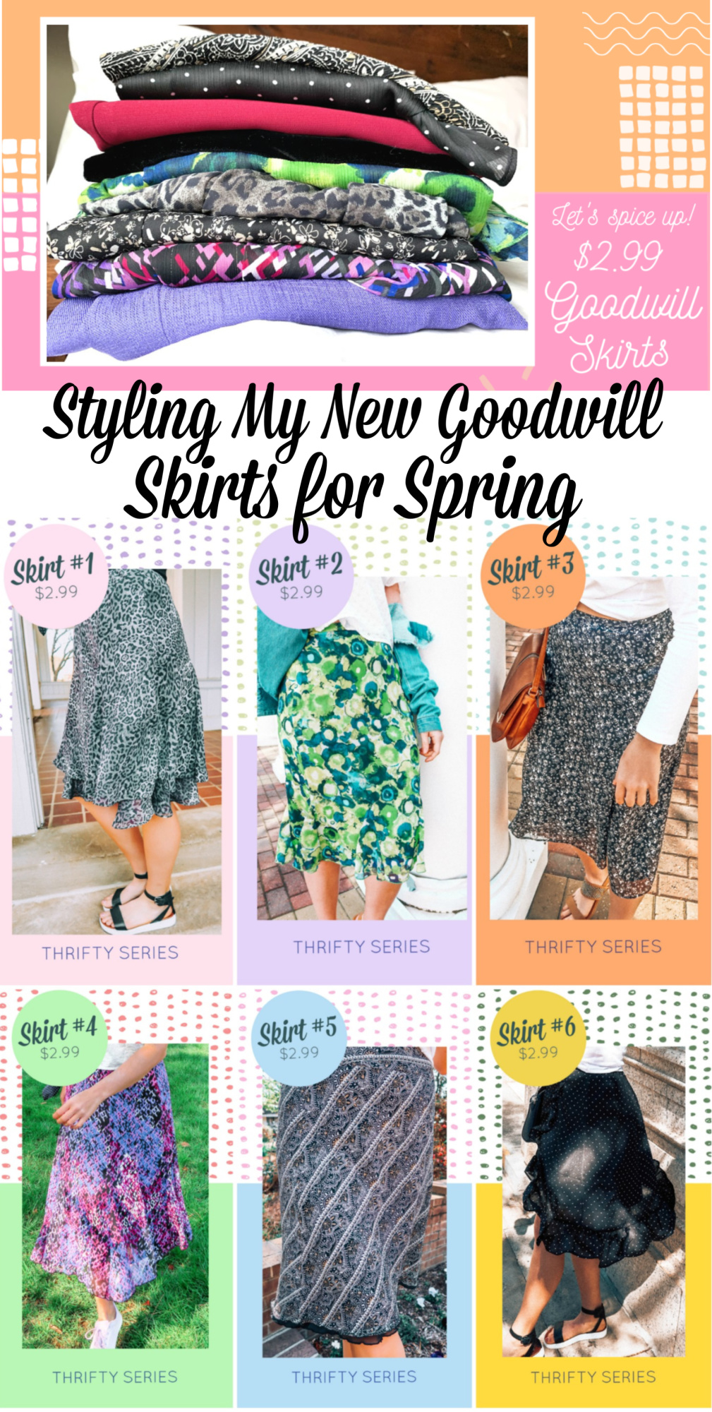 Thrifty Series: Styling My New Goodwill Skirts for Spring