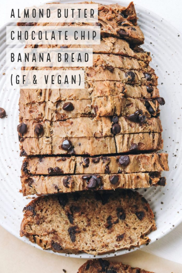 Almond Butter Chocolate Chip Banana Bread (Vegan & GF)