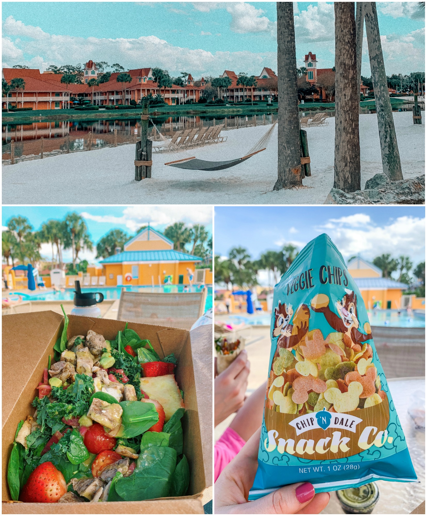 Walt disney world Caribbean resort salad dinner pool