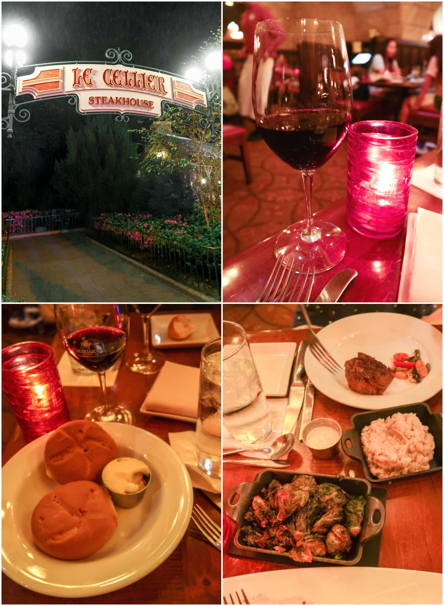 Dinner at Epcot Le Cellier Steakhouse WALT DISNEY WORLD