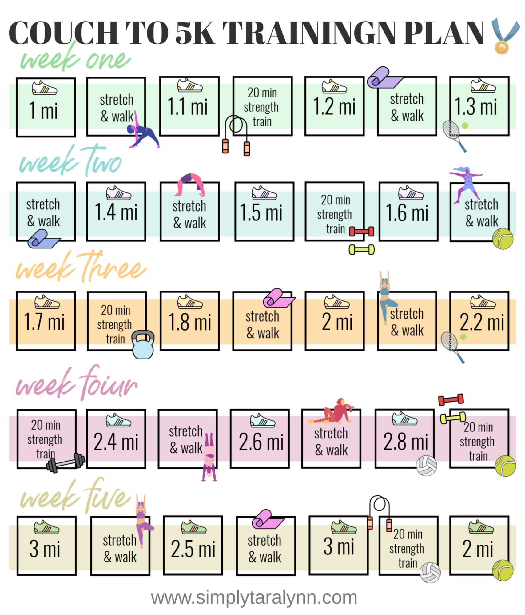 This is a picture of Légend Couch to 5k Plan Printable