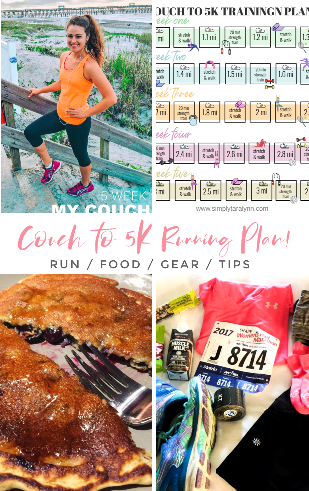 couch to 5k, five k, running three miles, how to run, beginners , 5k training plan, running food, pre workout, what to eat before a race, what to eat after a race, how to train fo ra run