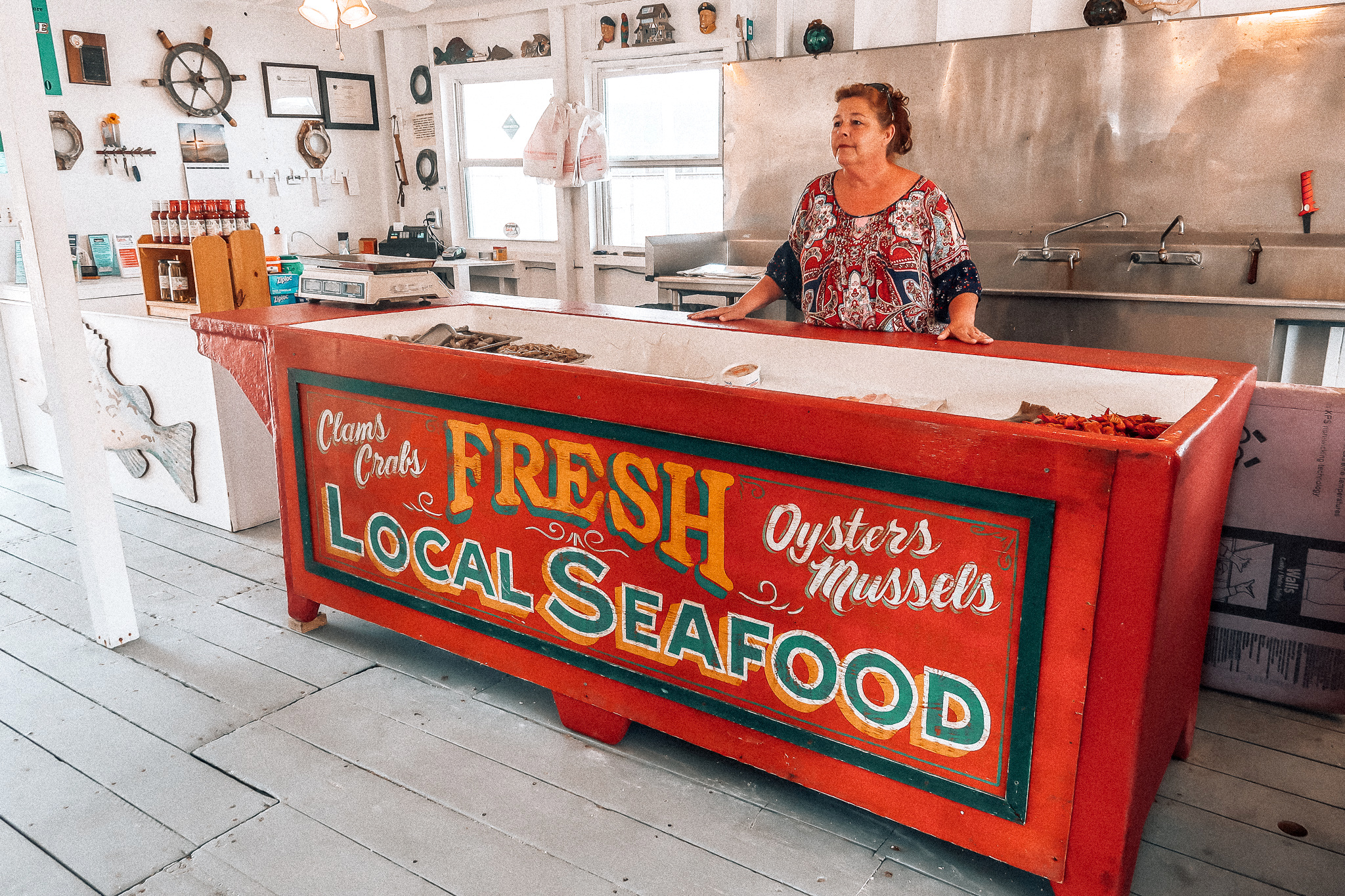 holden beach, old ferry seafood fresh shrimp low country boil fishing ana boat ride Brunswick islands travel tour guide North Carolina