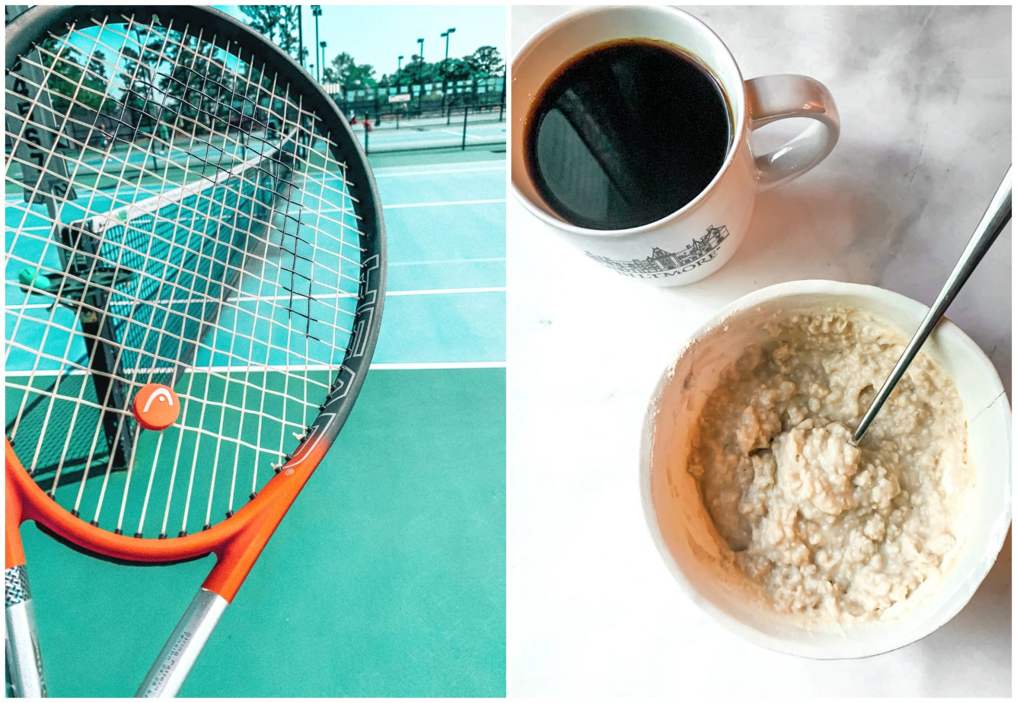 tennis protein oats coffee oatmeal breakfast fitness tennis blogger recap blog simply taralynn