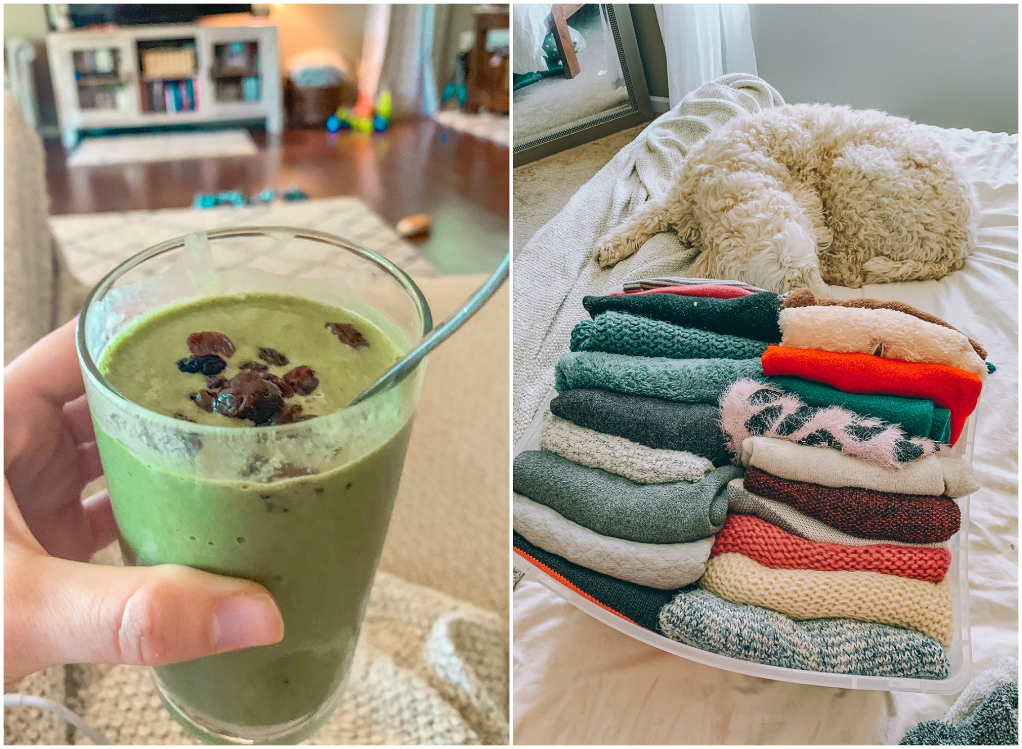 green smoothie breakfast lifestyle blogger dairy free plant based gluten free healthy