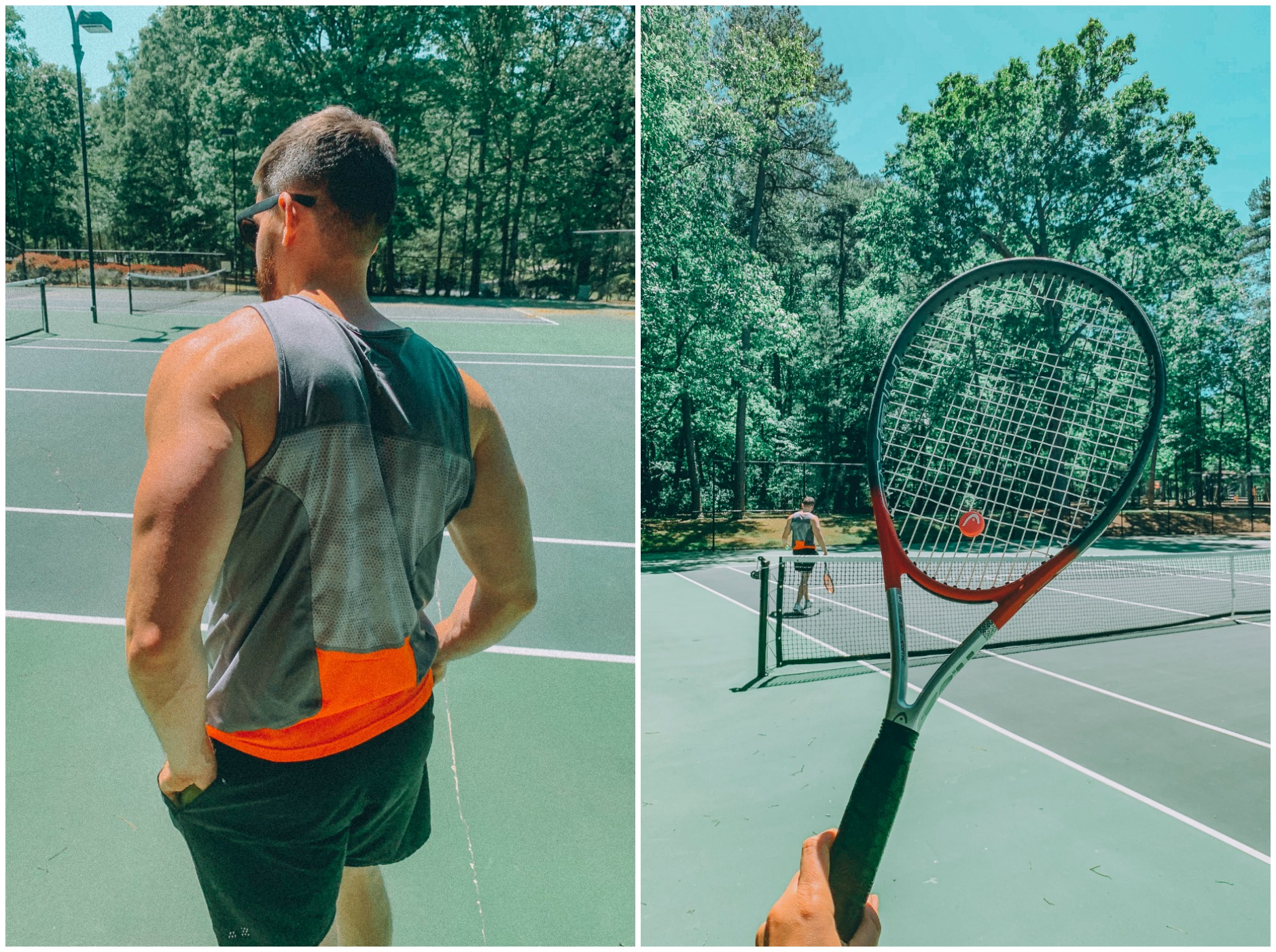 tennis doubles fun blogger lifestyle Charlotte fort mill rock hill North Carolina South Carolina fewell fun tennis couple blog