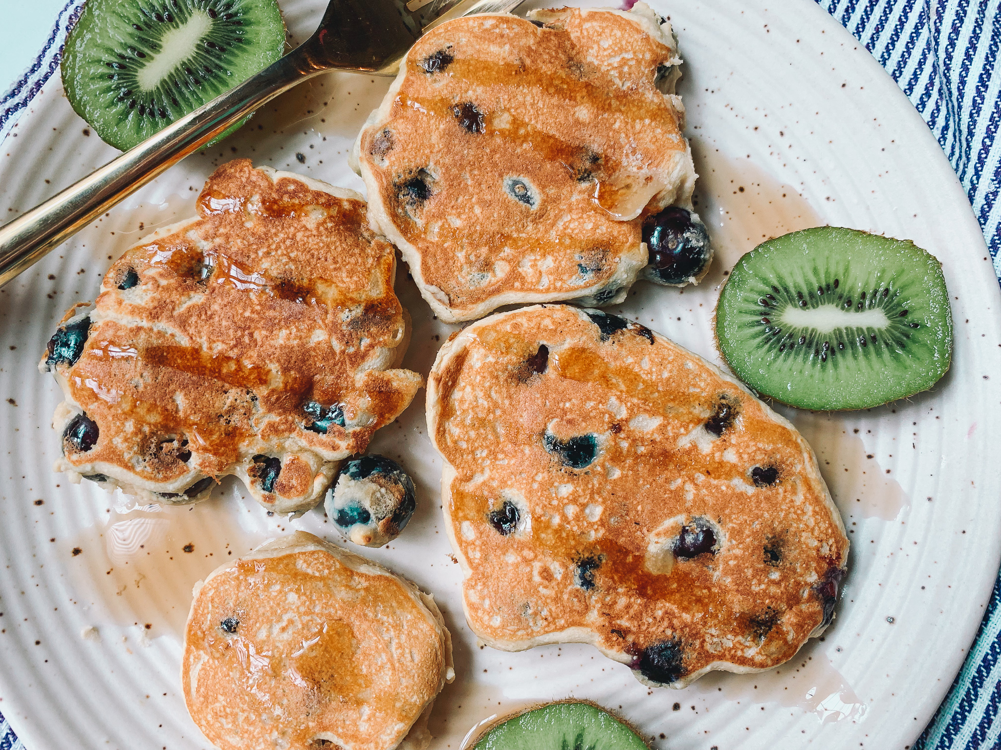 blueberry breakfast protein pancakes gluten free dairy free low carb paleo birchblender