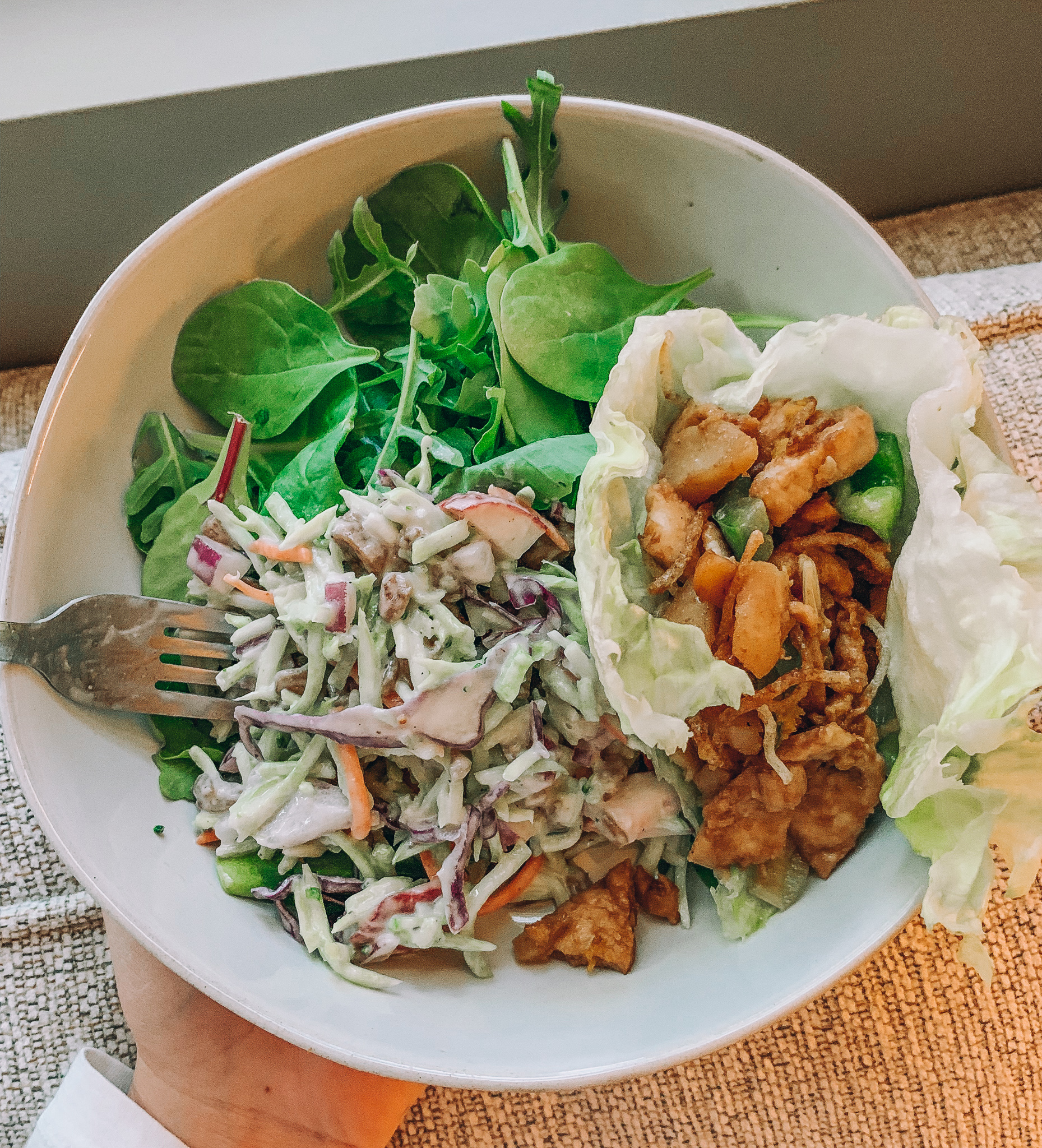 vegan broccoli salad with figs tahini dairy free gluten free healthy recipes summer salad