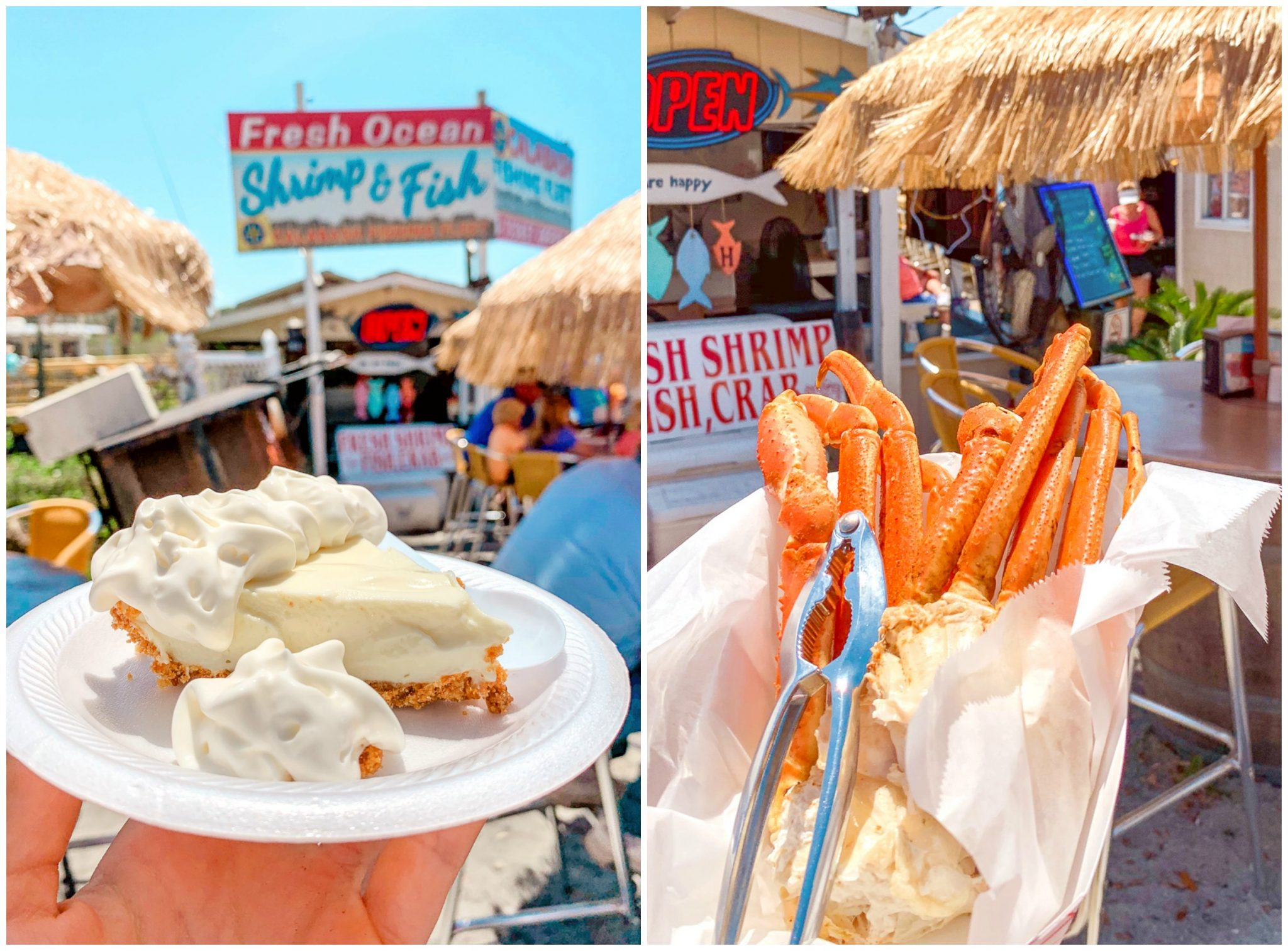 waterfront seafood calabash best place to eat Brunswick islands fishing fleet crab legs grouper best dessert where to eat North Carolina travel blog
