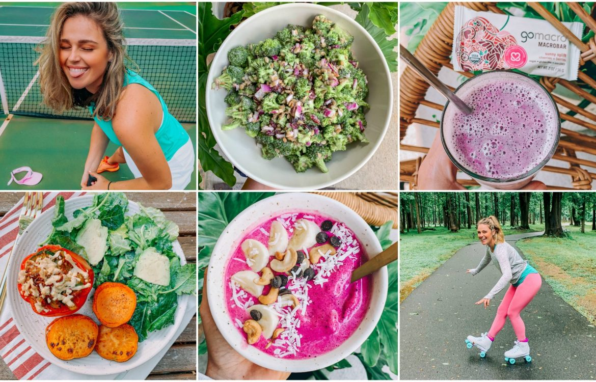 recap blog weekly recap lifestyle blogger healthy living lifestyle smoothie bowls salad gluten free dairy free fitness running simply taralynn mcnitt dinner healthy skate volleyball Charlotte North Carolina