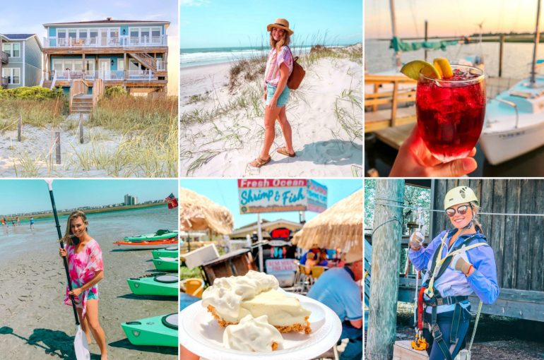 The Brunswick islands North Carolina travel guide what to do sunset beach house holden beach ocean isle oak island sunset sunrise rental visit vacation beach