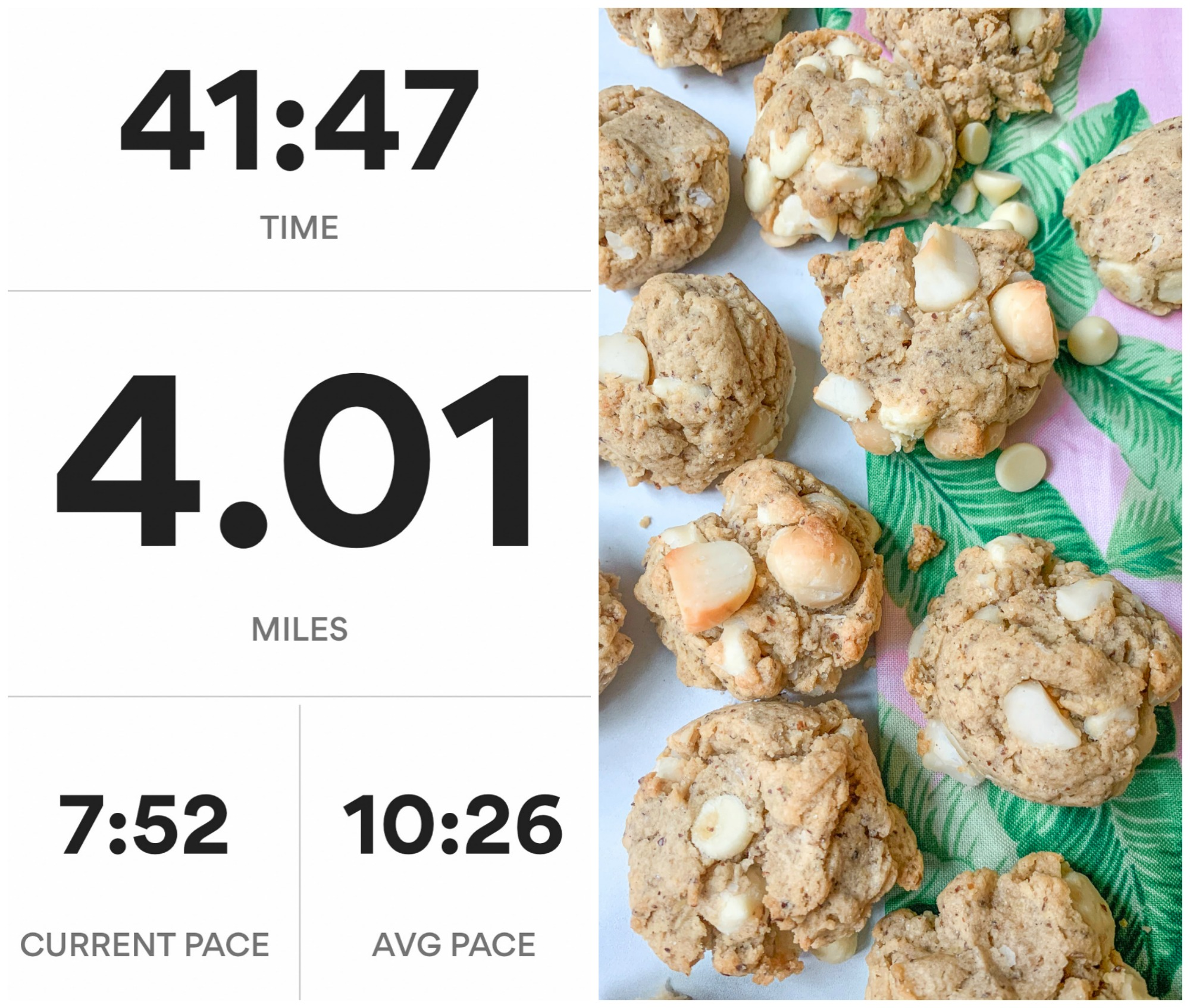 running, healthy, exercise, vegan macadamia nut cookies, summer, run fitness, train
