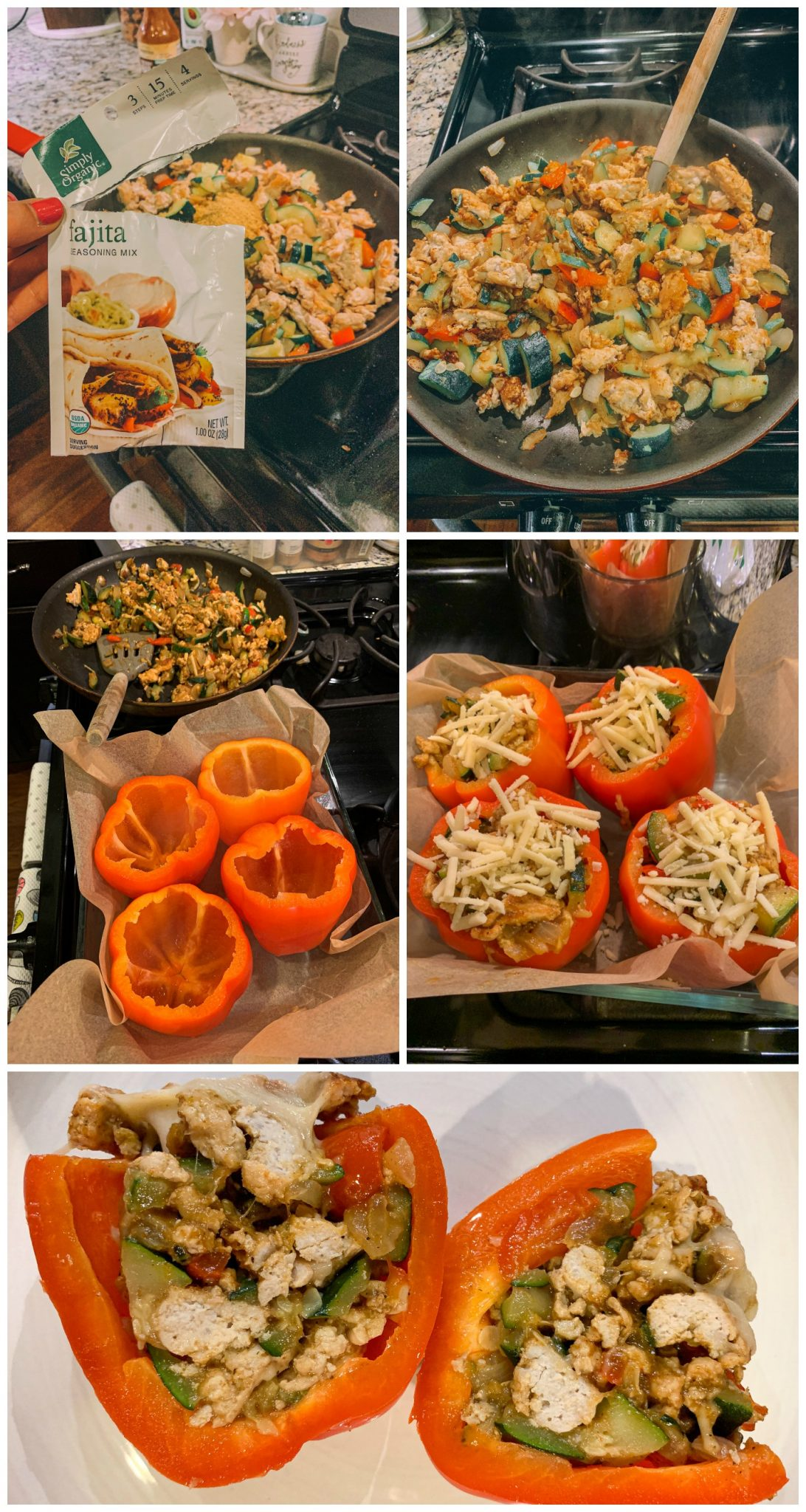 healthy dinner turkey fajita stuffed bell peppers gluten free dairy free low carb