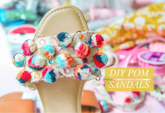 Diy pom pom shoes, fashion, colorful, souther, shoes, fun, pom, do it yourself, diy, hobby lobby, crafts, summer fun, fashion lifestyle,