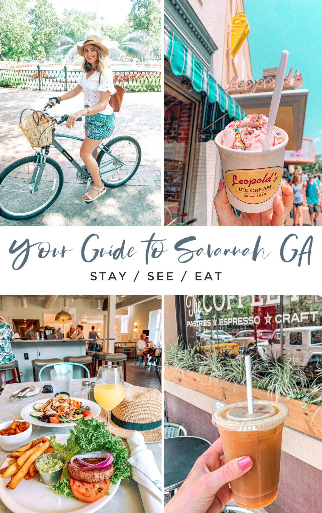 Your Guide to Savannah Georgia, travel, where to eat, travel blog, visiting savannah, what to do, restaurants, coffee shops, bikes, fun, explore wormhole , historic, rivers tree, fountain, parks, food, the grove, coffee shops, best places to visit in Savannah, the south,