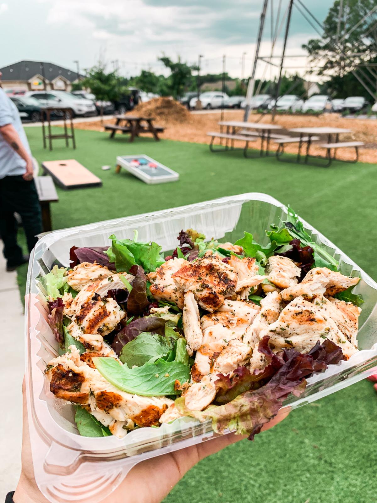 Marios, dinner, Italian, Charlotte, salad, grilled chicken, gluten free, healthy, food,