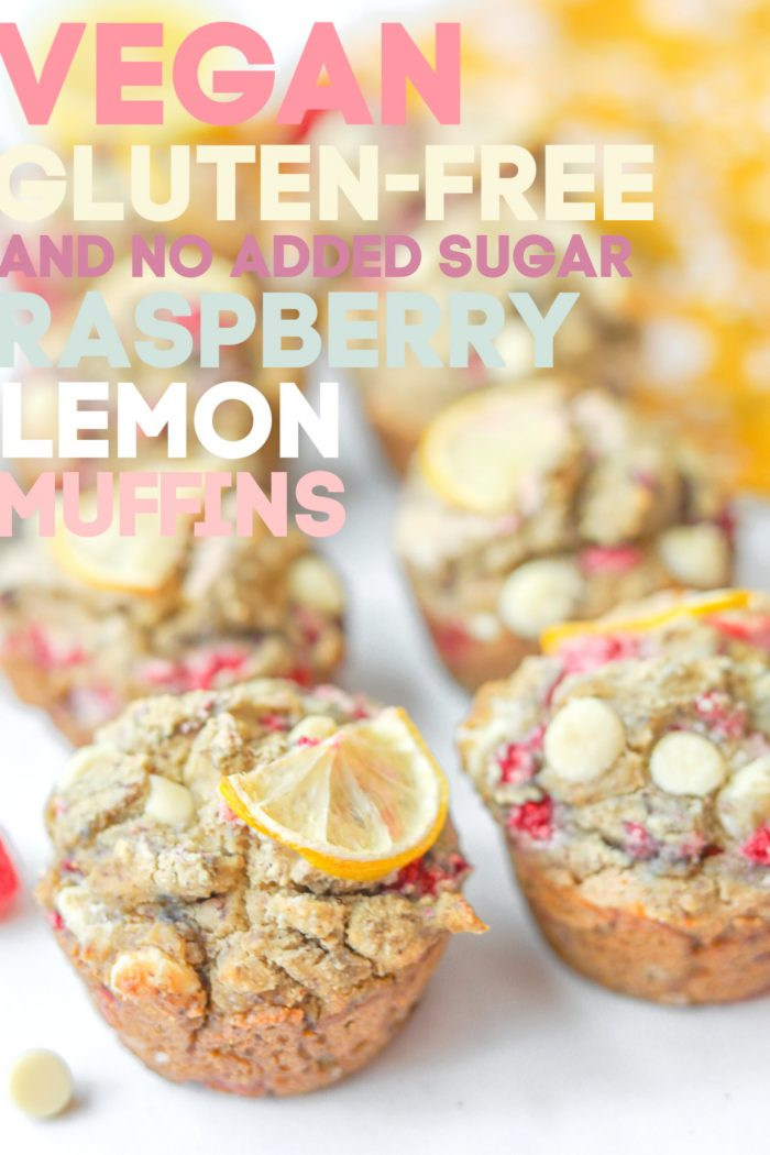 Gluten-Free White Chocolate Raspberry Lemon Muffins